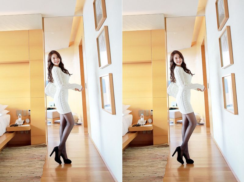 Kim Min Young Black Lace and Legs Picture and Photo 3
